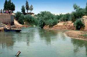 Jordan River, traditional site of Jesus' baptism
