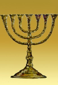 When Aaron prepared the Levites for consecration, he adjusted the seven lamps of the menorah, candlestick, or lampstand forward.(Numbers 8:1-4).