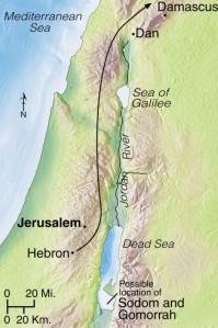 Having conquered Sodom, Kedorlaomer left for his home country, taking many captives with him. Abram learned what had happened and chased Kedorlaomer past Dan and beyond Damascus. There he defeated the king and rescued the captives, among them Lot. After Abram (Abraham) rescued Lot from Kedorlaomer, he met Melchizedek, a king and a priest of God. Abram gave ten percent of (tithed) all he had recovered.