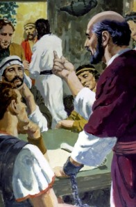 Paul was a prisoner in Rome, under house arrest, but he was free to preach the Gospel to many who came to listen (Acts 28:16-31).