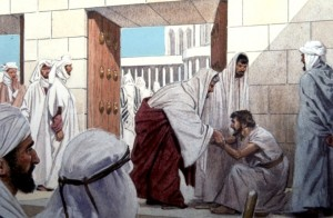 Peter healed a crippled beggar at the Beautiful Gate of the Temple (Acts 3:1-11)