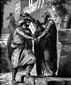 Saul anointed king by Samuel.