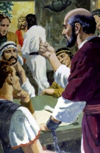 Paul was a prisoner in Rome, under house arrest, but he was free to preach the Gospel to many who came to listen (Acts 28:7-31).