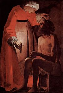 Georges de La Tour,Job Mocked by his Wife