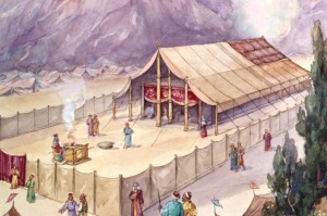 Moses makes the tabernacle in the wilderness
