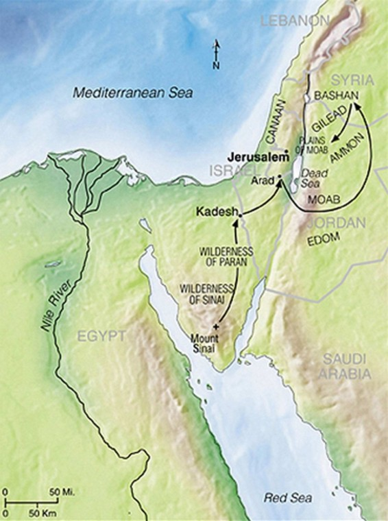Map Cities Refuge Old Testament