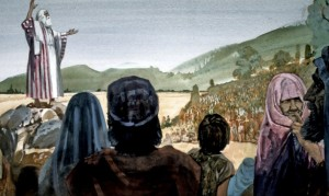 Before Joshua died, he spoke to the Israelites, urging them to be faithful to the Lord (Joshua 23).