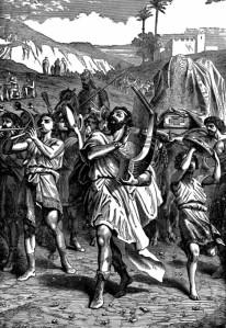 David bringing the Ark to Jerusalem