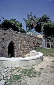 "This is one traditional place of David's tomb. The other is on Mount Zion, in Jerusalem, on the first floor of the same building where one traditional site of the Upper Room is on the second floor. In Jacob's time, it was called Ephrath, which meant ""fruitful."" Jacob buried his favorite wife Rachel there after she gave birth to Benjamin. After the conquest of the Promised Land, it was called Bethlehem-judah (Ruth 1: 1). Famine drove Elimelech and Naomi from Bethlehem to Moab, where their sons married Ruth and Orpah. When all three husbands died, Ruth returned to Bethlehem with Naomi and gleaned in the fields of Boaz. She and Boaz married, and their great-grandson was David. In his childhood, David cared for the sheep of his father Jesse in the fields of Bethlehem, possibly the same fields where his great-grandmother Ruth gleaned. A thousand years later, Jesus was born in Bethlehem and angels announced His birth to shepherds caring for their sheep in the fields near there. These fields have become known as The Shepherds' Fields."