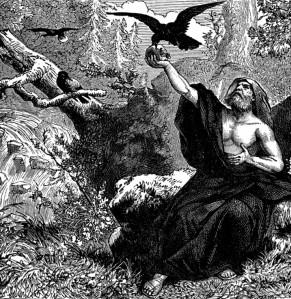 Elijah fed by ravens