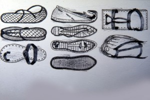 Bible-time shoes were often sandals, such as these.
