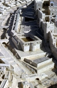 Model of the Pool of Siloam as it may have looked in the time of Jesus.