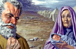 The birth of Benjamin was a time of joy and sorrow--joy that a new son, held by the midwife, was born; mourning for Rachel who died in childbirth (Genesis 35:16-20).