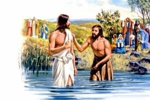 John the Baptist baptized Jesus in the Jordan River because Jesus told him to do it -- Matthew 3: 13-17.